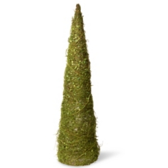 Topiary of Vines with Moss Cone Tree, 36 in.