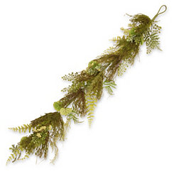 Fern and Lavender with Bristle Branches Garland