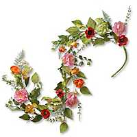 Colorful Spring Flowers Garland