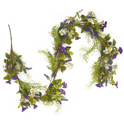 Assorted Purple Flowers Garland
