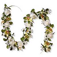 White Rose and Calla Lily Garland