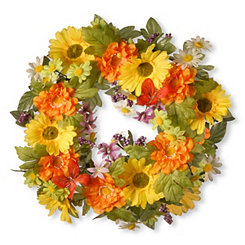Tiger Lily and Daisy Wreath