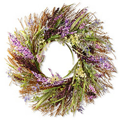 Mixed Floral and Leaf Wreath