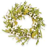White Dogwood Floral Vine Wreath