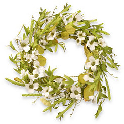 White Dogwood Floral Vine Wreath