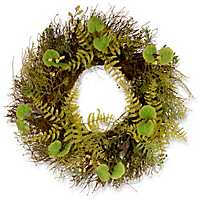 Fern and Lavender with Bristle Branches Wreath