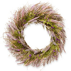 Lavender with Bristle Branch Stems Wreath