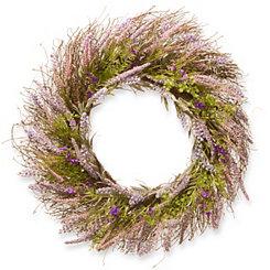 Lavender with Bristle Branch Stems Wreath