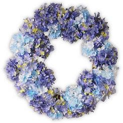 Blue Hydrangea Floral Wreath