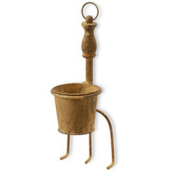 Hanging Garden Tool with Removable Pot Planter