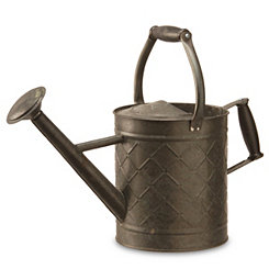 Antique Black Metal Watering Can