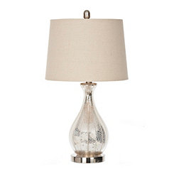 Alyson Beaded Mercury Glass Table Lamp