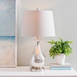 Alyson Beaded Mercury Glass Table Lamp Kirklands