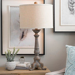 Shadow Gray Jones Table Lamp