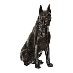 Sitting Boxer Statue