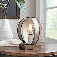 Galvanized Metal Sphere Edison Lamp