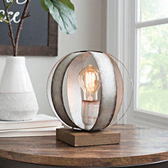 Galvanized Metal Sphere Edison Lamp