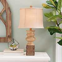Grant Two Toned Brown Table Lamp