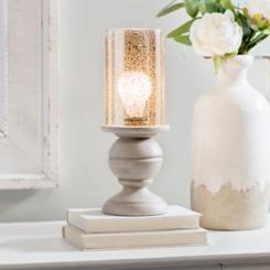 Ashton Cream and Mercury Glass Uplight