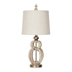Cream Elizabeth Scroll Table Lamp