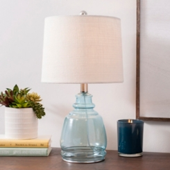 Paisley Blue Glass Table Lamp