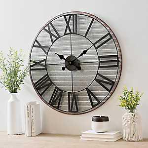 Royce Galvanized Metal Wall Clock