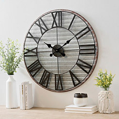 Royce Galvanized Metal Wall Clock
