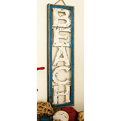 Wood Cut-Out Beach Hanging Wall Plaque