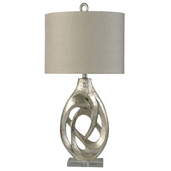 Sculpted Silver Table Lamp