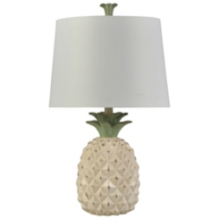 Cream Pineapple Table Lamp