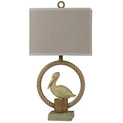 Pelican Rope Ring Table Lamp