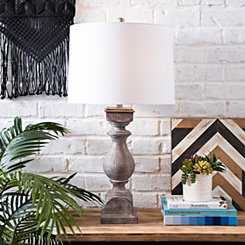 Gray Balustrade Table Lamp