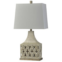 Ivory Open Weave Table Lamp