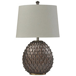 Bronze Leaf Table Lamp