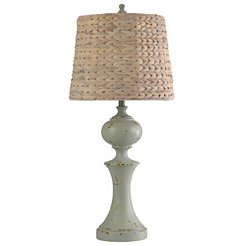 Light Gray Balustrade Table Lamp