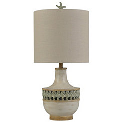 Band of Seahorses Ivory Table Lamp and Night Light