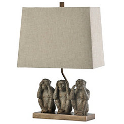 No Evil Monkeys Table Lamp