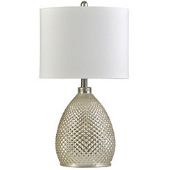 Mercury Diamond Cut Glass Table Lamp