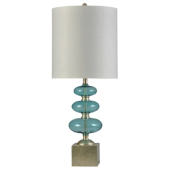 Stacked Blue Orbs Table Lamp
