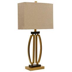Gold Modern Sculpted Table Lamp