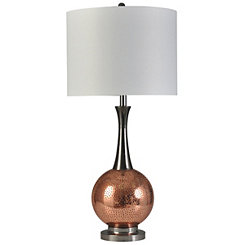 Copper Sphere Table Lamp