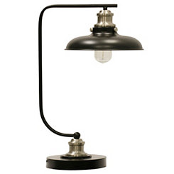 Industrial Black Metal Desk Lamp