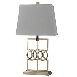 Antique Silver Geometric Table Lamp