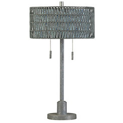 Steel Table Lamp with Double Layer Shade