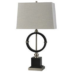 Espresso Metal Ring Table Lamp