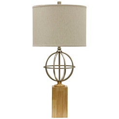 Silver Globe Table Lamp