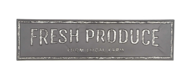 Fresh Produce Metal Plaque