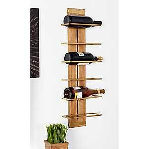 Canon Wood and Metal Wine Rack