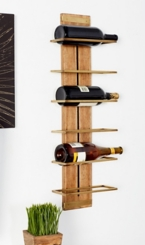 Canon Wood and Metal Wine Rack