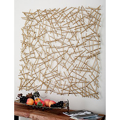 Gold Sticks Metal Wall Plaque
